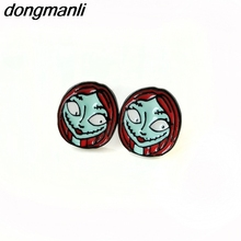 F142 The New Arrival Nightmare Before Christmas Earrings For Women Ear Studs Female Gift Fashion Jewelry Accessories