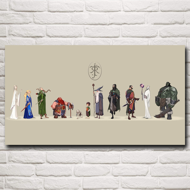 The Lord of the Rings J. R. R. Tolkien Gandalf Movie Art Silk Poster Home Decor painting 11×20 16×29 20×36 Inche Free Shipping