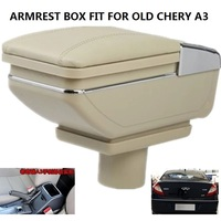 CITYCARAUTO BIGGEST SPACE LUXURY USB FOR CHERY A3 2009 Car Armrest Box Central Storage Box With