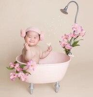 Adereços fotografia de recém-nascidos banheira 100 dias de lua cheia arte do ferro adereços fotografia bebê adereços recém-nascidos