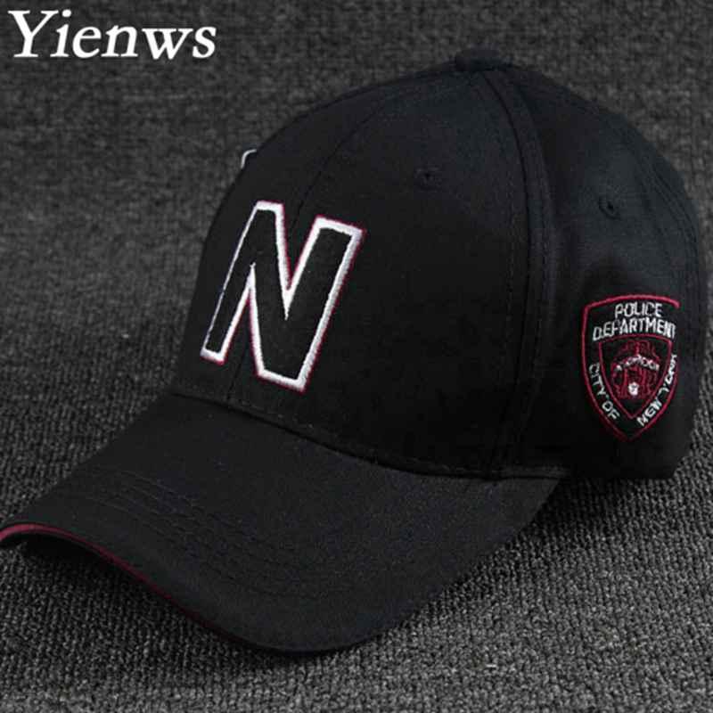 Prix pour Yienws homme casquette de baseball pour hommes femmes police nypd cap chapeaux bord courbe camionneur moto d'été cap yh214