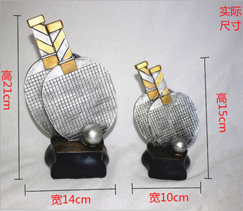 2016 table tennis trophy, resin trophies table tennis racquet sports trophy cup game