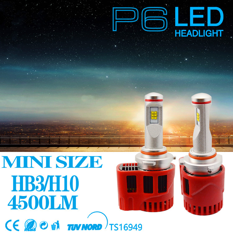 2x HB3 HB4 9005 9006 90W 9000LM Car LED Headlight Kit Fog Head Lamp Single Beam Bulbs P6 ZES Chips White 3000K 4000K 5000K 6000K
