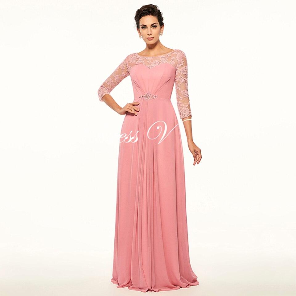 Dressv Light Peach Mother Of The Bride Dress Bateau Neck A Line ...