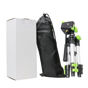 "Image 5 - Huepar Aluminum Portable Adjustable Tripod for Laser Level Camera with 3 Way Flexible Pan Head Bubble Level 1/4"" 20 Screw Mount"