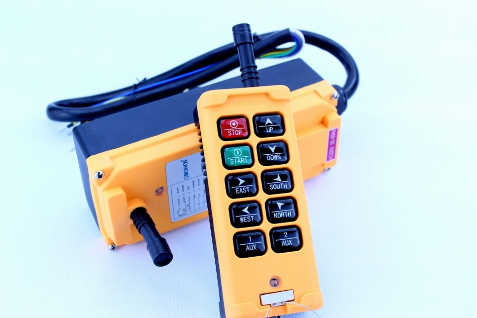 ФОТО New Arrivals 6 Channels 1 Speed control 2 motor crane industrial remote control HS-10 wireless transmitter push button switch