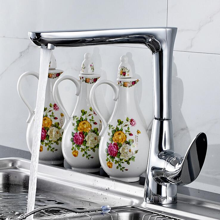 New export Kitchen faucet & Basin Faucet Bathroom Mixer Taps Single Ceramics Handle Deck Mount sink tap water faucet chrome micoe hot and cold water basin faucet mixer single handle single hole modern style chrome tap square multi function m hc203