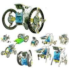 Забавные 13 в 1 робот, работающий от солнечной энергии комплект DIY игрушка солнечная Мощность ed игрушки Трансформация Робот комплект Обучающие игрушки, подарки для детей мальчик