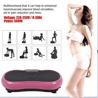 Body Building Shaping Weight Loss Fat Burning Massage Vibration Plate Home Gym Exercise Tool UK Plug Vibration Fitness Machine