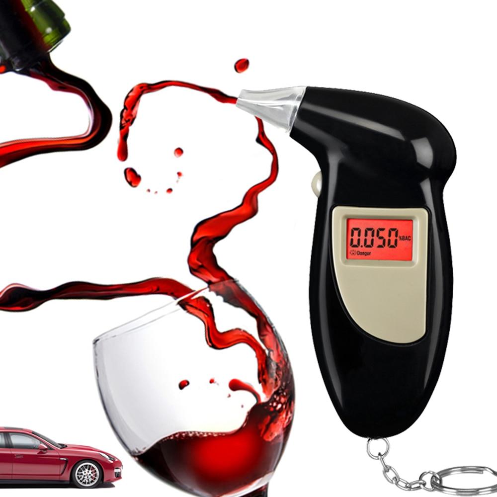 2019 freies Verschiffen, Schlüssel Kette Alkohol Tester, Digital Alkoholtester, alkohol Atem Analysieren Tester (0.19% BAC Max)