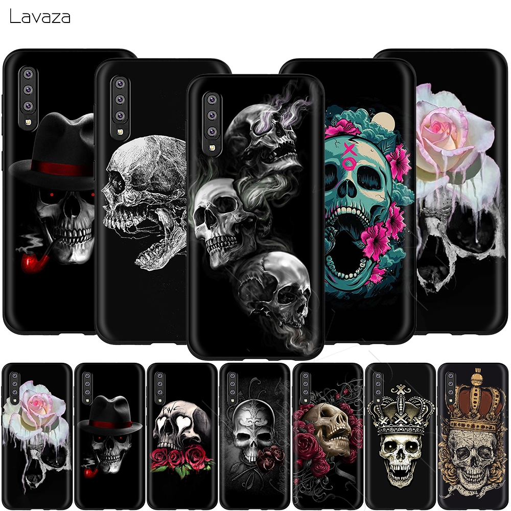 Lavaza Retro Style Flower Skull Crown Case for <font><b>Samsung</b></font> Galaxy S6 S7 Edge J6 S8 S9 S10 Plus A3 A5 A6 A7 <font><b>A8</b></font> A9 Note 8 9 image