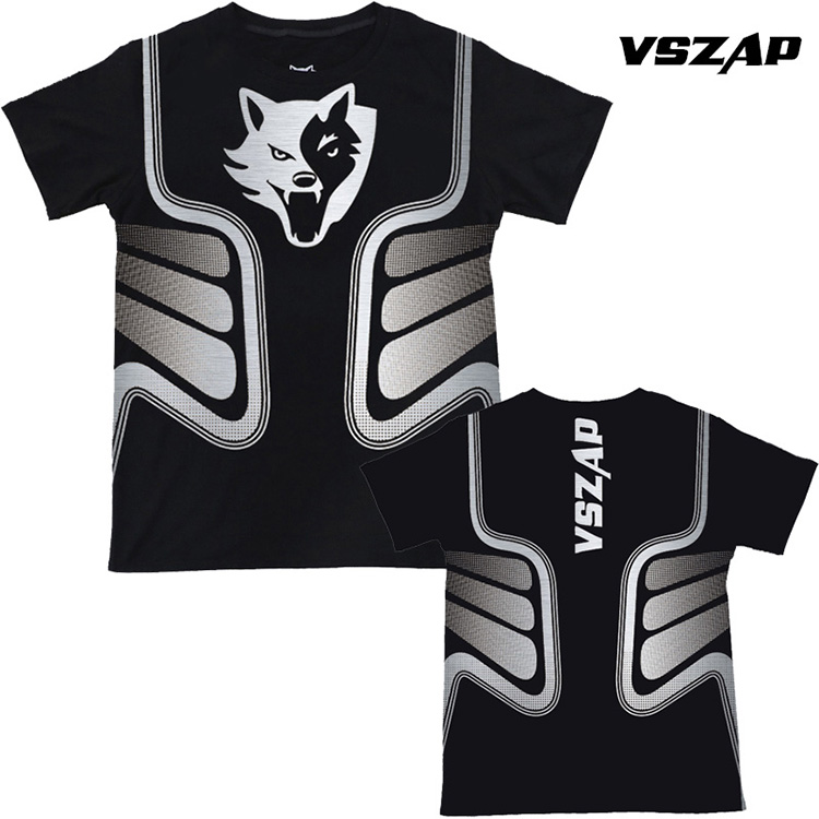 VSZAP Martial Arts Fitness Short Sleeve T-shirt Male Sports Stretch Muay Thai Jujitsu Martial Arts Wind Sowing For Muscle Traini
