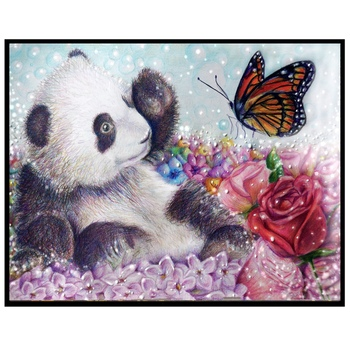 """Diy Алмазная картина """"Животные прекрасная панда"""" вышивка полный квадратный алмаз вышивка крестом горный хрусталь Картина Декор подарок"""