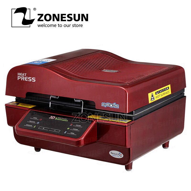 ZONESUN Printer For Fabric Logo Printing Machine Phone Case Printing Machine with mini sealing machine applicatori di etichette manuali