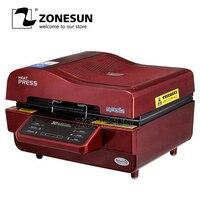 ZONESUN принтер для ткани логотип печатная машина чехол для телефона печатная машина с мини запайки