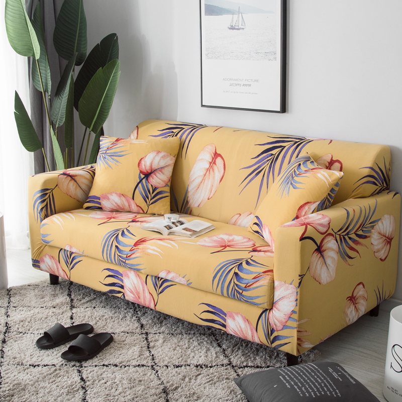 Sofa cover Leaf pattern  polyester fiber Slip-resistant Sofa Slipcover Couch Cover Sectional Sofa Covers for Living Room 1PC