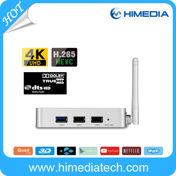US $200 0  Bluetooth 4 0 2GM RAM 16G FLASH HiMedia Q5 pro quad core 4K  android tv box arabic channels Iptv tv box set top box-in Set-top Boxes  from
