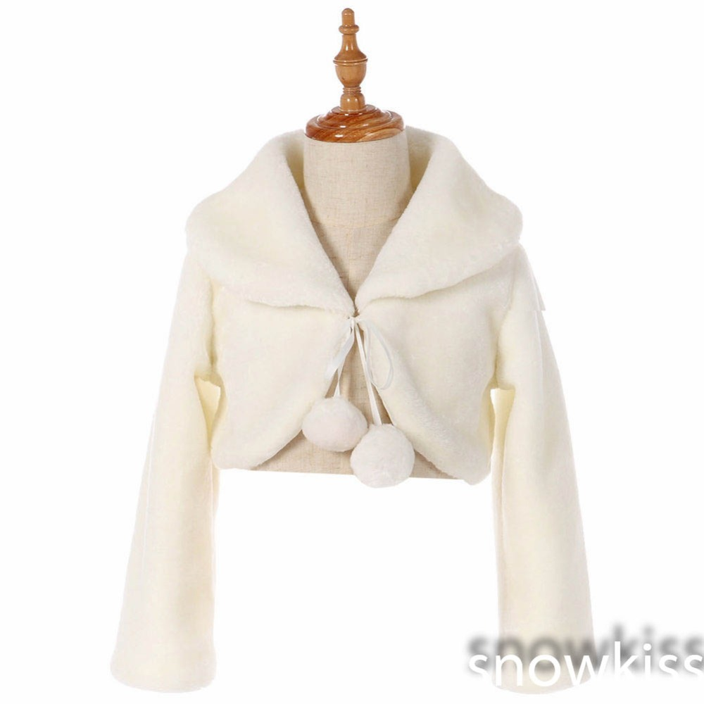 White/ivory Long Sleeve Warm Wedding Cloak Fur Trim Junior Bridesmaid Cape for communion dress flower girl jacket Bolero 4 4 electric cello 4 string silent powerful sound ebony part top grade you can choose color i can make for you