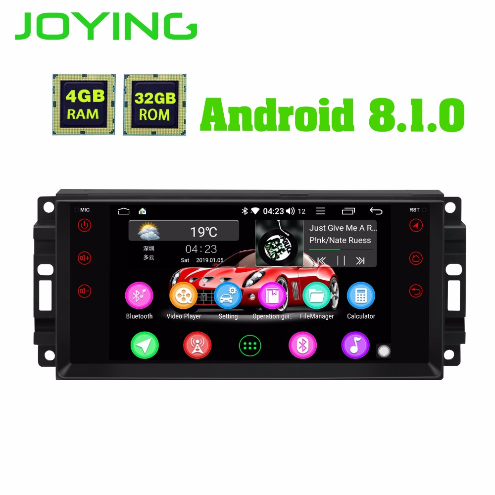 Android 8 1 car radio stereo player 4GB 32GB with DSP for Jeep Octa Core 1024