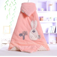 Love Poetry 2019 New Baby Bug Striped Color Cotton Newborn Bag Cartoon Embroidered Cotton Hug Blanket Spring
