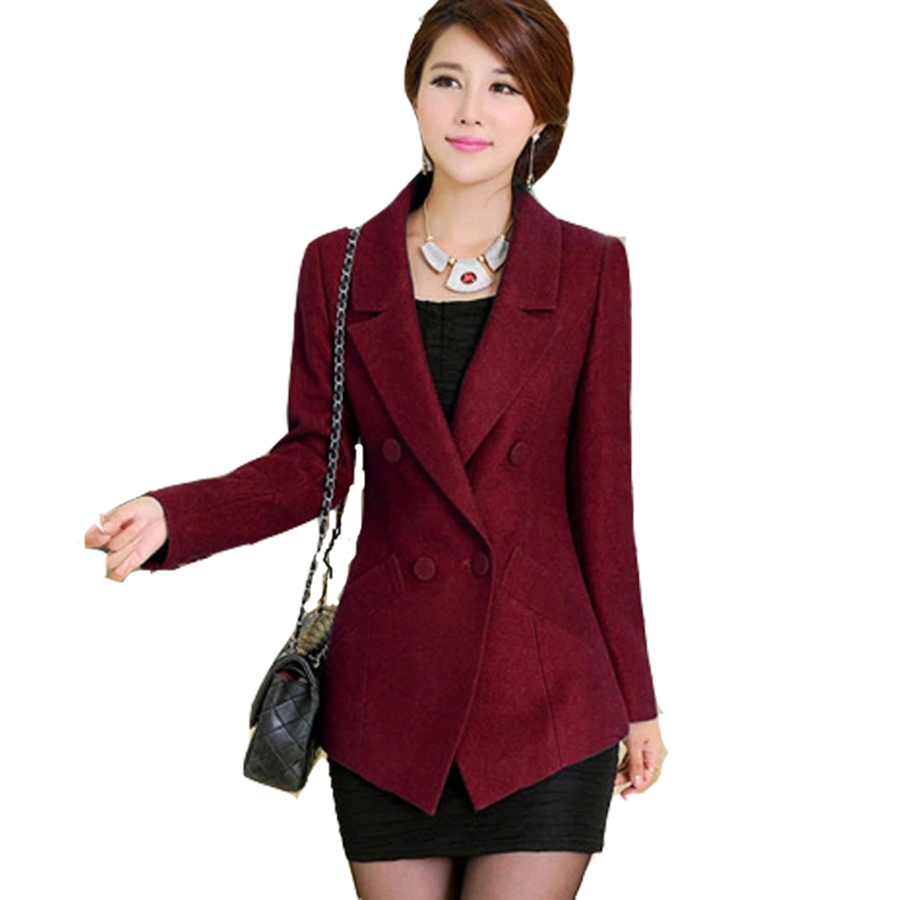 Jacket Coat Blazer Women Suits Elegant Top Red Formal Jackets Ladies Blazer Designs Casaco Coats ...
