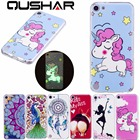 QuShar Soft TPU Shockproof Case for ipod Touch 5 6 Luminous Cover Cute Unicorn Dog Pattern Case for Apple ipod Touch 6 Slim Case