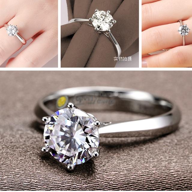 Romantyczne obrączki biżuteria sześcienny pierścionek z cyrkonią dla kobiet mężczyzn 925 srebro pierścionki akcesoria