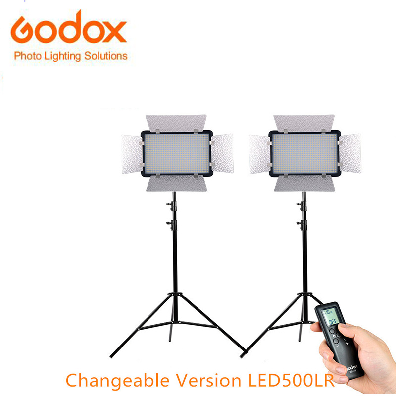 Godox LED500LRC Kit changeable version LED Studio Video Light with white diffuser and Remote Controller for Camera DV Camcorder changeable version godox 2000 2x 1000 led photo studio video continuous light kit for photography wedding camera camcorder dv