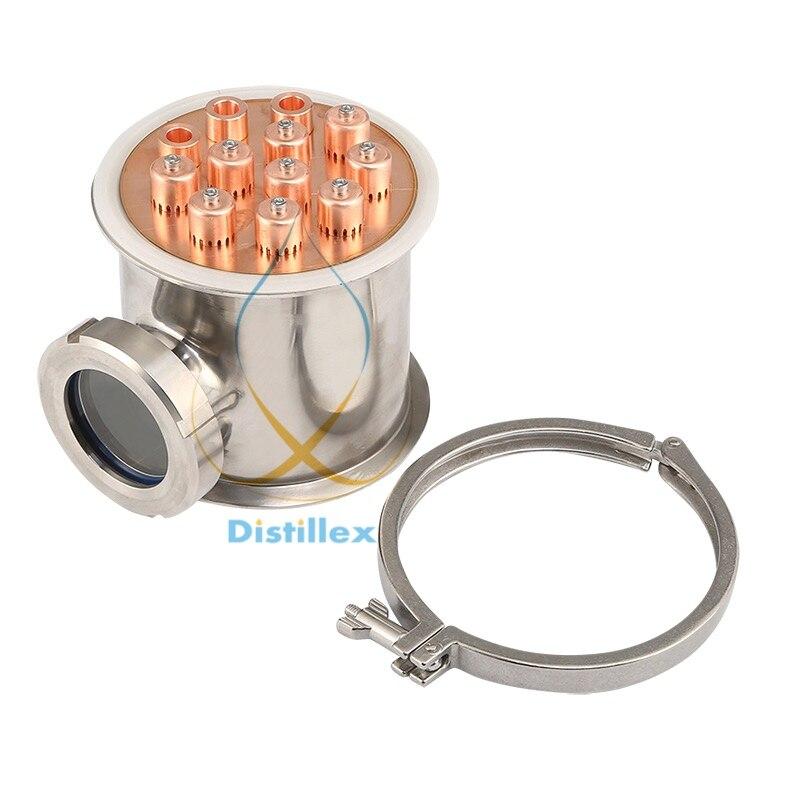 6 154mm (OD167mm) SS304 bulle plaques section et cuivre bulle plaque pour distillation.