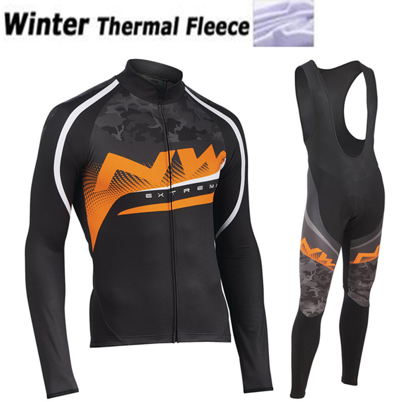 NW 2019 Team Pro Cycling Team Jersey Winter Thermal Fleece Racing Sport Bicycle Clothing Ropa Ciclismo Mountain