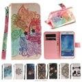 Pintura top quality stand case couro flip for samsung galaxy j1 J3 J5 2016 J120 J310 J510 Móvel Tampa Do Telefone com suporte de Cartão titular