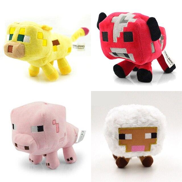 Stücke Minecraft Plüschtiere Set Spiele Minecraft Rosa Schwein - Minecraft mit tieren spielen