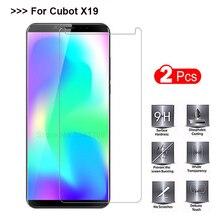 2 шт закаленное стекло для смартфона Cubot X19 чехол 5,93 Взрывозащищенная Защита экрана для Cubot X19 защитная пленка, стекло