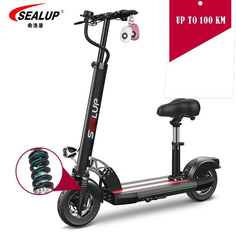 Scooter électrique intelligent pliable 150 km kilométrage avec siège pour enfants planche à roulettes électrique pour adultes