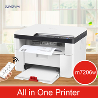 Wireless Laser Printing Machine Copy Scanning Office Home Triple Business Multi function M7206W All in One Printer 600*600dpi