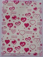500pcs Promotions 15x20cm love Heart design Gift Bags Plastic Boutique Pouches Shopping Gift Package Bag 01502010