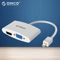 ORICO MINI DP To HDMI VGA Adapter To Thunderbolt Cable DisplayPort Display Port for Apple MacBook Air Pro-(DMP-HV2-WH)