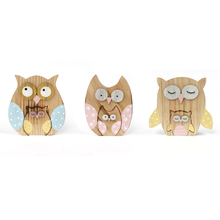 new matryoshka owl decoration 3set/lot wood dolls log craft 14*11*2cm home decor party supplies