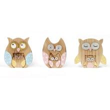 new matryoshka owl decoration 3set/lot wood dolls log craft 14*11*2cm home decor party supplies