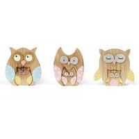 new matryoshka owl decoration 3set/lot wood owl decoration dolls log craft 14*11*2cm home decor party decoration supplies