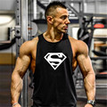 Superman gymvest Men Cotton Hoodie Sweatshirts fitness men gyms clothing bodybuilding tank top men Sleeveless Shirt Casual