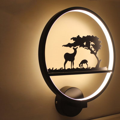 New Design 18W Black Modern LED Wall Lamp For Bathroom Bedroom LED Sconce Wall Light Home Decoration Mount Wall Lighting Fixture