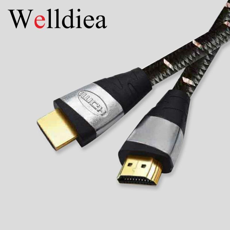 HDMI Kabel Welldiea (Männlich zu Männlich kabel) 2,0 4 k 3D 60FPS band geflochtene Kabel für HDTV LCD Laptop PS3 Projektor Computer Kabel
