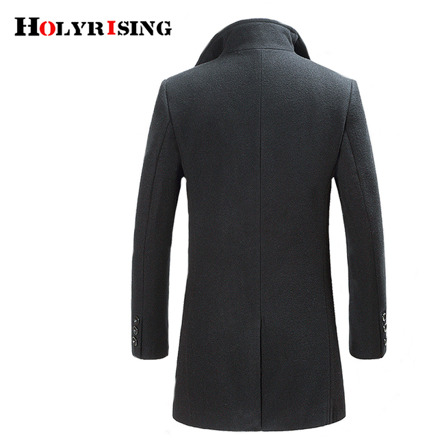 Holyrising Casaco Masculino Inverno Thicken Wool Coat Men Turn Collar Overcoat Single Button Woolens Jacket For Men 18402-5