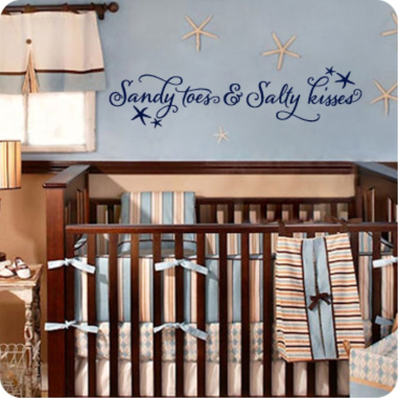 Beach Quotes Wall Stickers Ocean Starfish Vinyl Lettering Baby - Wall decals beach quotes