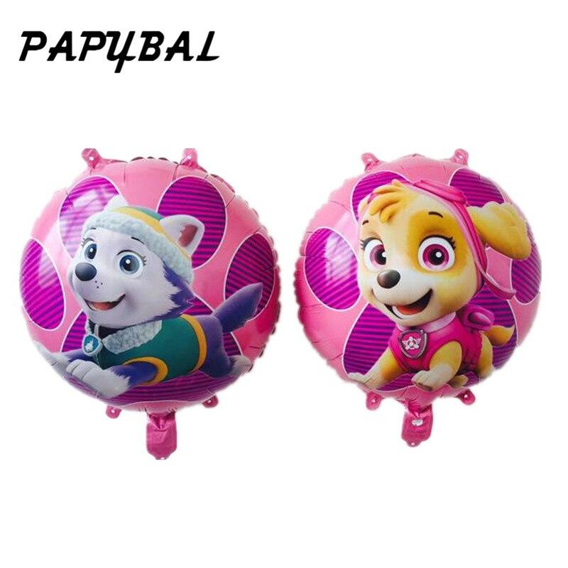 Papybal 5 шт./лот 18 дюймов собак Skye Фольга шары душа ребенка день рождения вечерние поставки милая собака игрушка шары для вечерние украшения