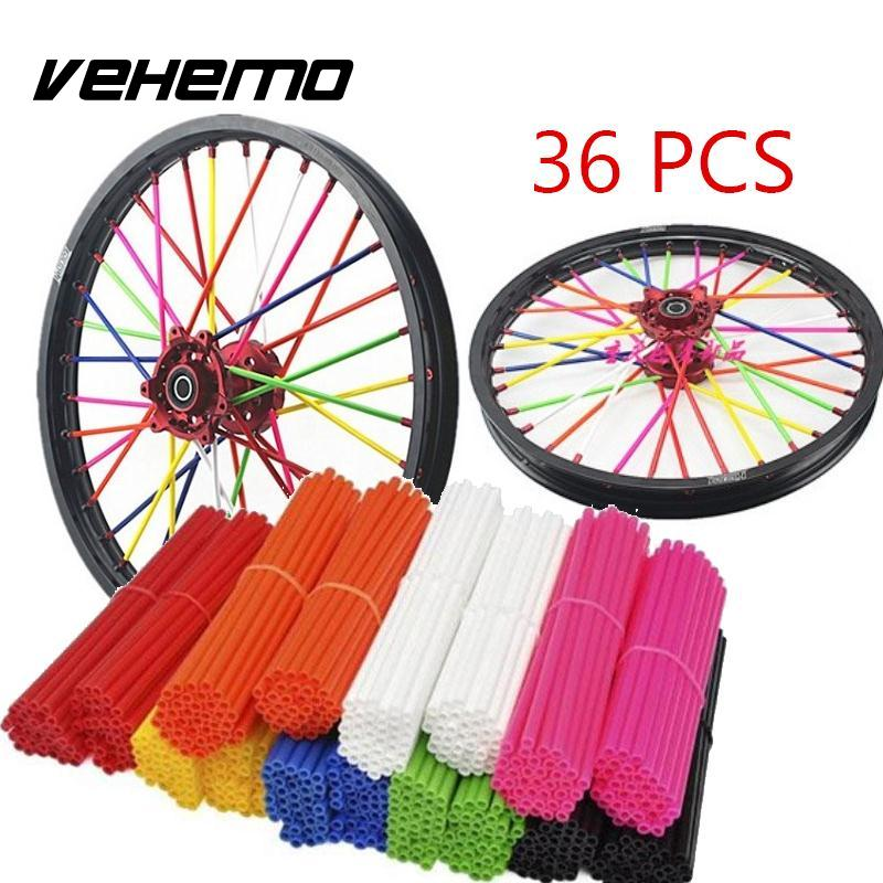 Universal Motorcycle Wheel spoke skins Dirt Bike Enduro Off Road Rim For honda crf 450 CR CRF XR XL 85 125 250 500 KTM KAWASAKI for honda crf 250r 450r 2004 2006 crf 250x 450x 2004 2015 red motorcycle dirt bike off road cnc pivot brake clutch lever