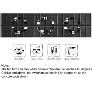 Image 4 - สำหรับPS4 Slim Cooler,พัดลมระบายความร้อนสำหรับPS4 Slim USBภายนอก 5 อุณหภูมิSuper TurboสำหรับPlaystation 4 Slim Console