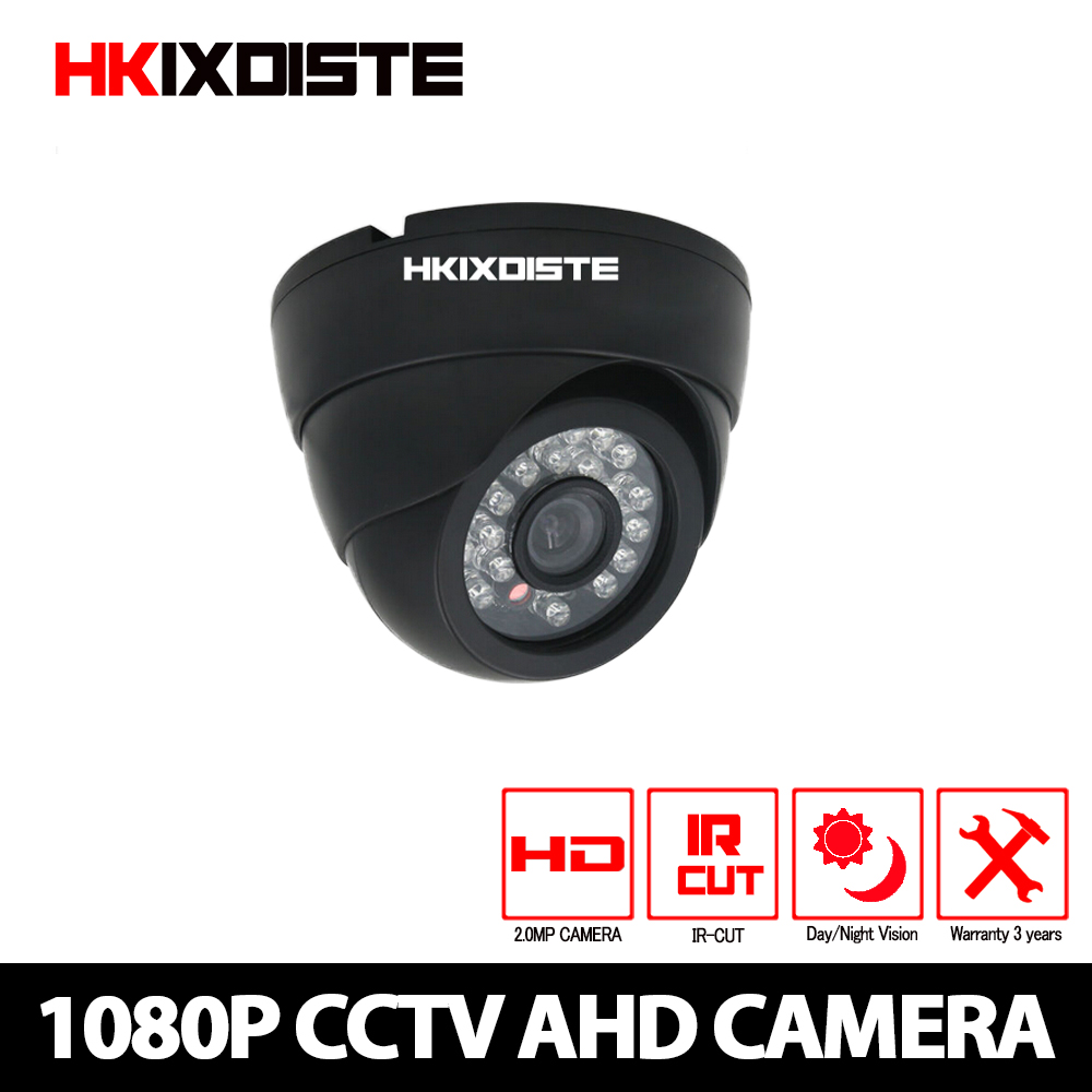 HKIXDISTE AHD CCTV Camera CCD IR Cut Filter Microcrystalline IR Leds 1MP/1.3MP 2MP AHD Camera 720P 1080P Dome Security Camera