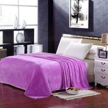 Flanell fleece decke auf dem bett home erwachsene plaid blume schöne decke weichen sommer sofa reise decke lila tragbare